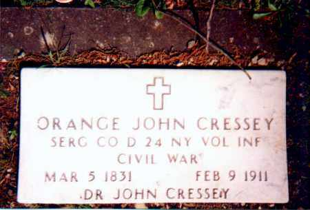 CRESSEY (VETERAN UNION), ORANGE JOHN - Garland County, Arkansas | ORANGE JOHN CRESSEY (VETERAN UNION) - Arkansas Gravestone Photos