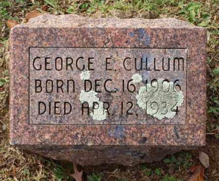 CULLUM, GEORGE E. - Garland County, Arkansas | GEORGE E. CULLUM - Arkansas Gravestone Photos