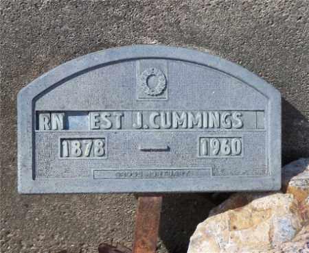 CUMMINGS, ERNEST J. - Garland County, Arkansas | ERNEST J. CUMMINGS - Arkansas Gravestone Photos