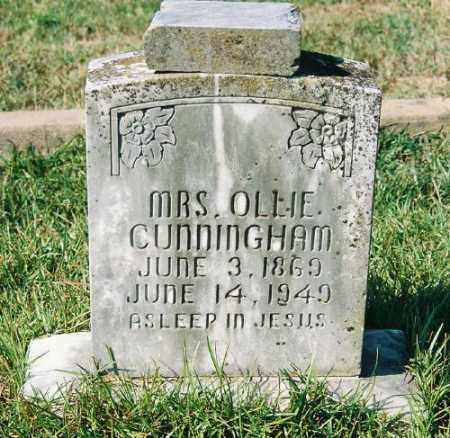 CUNNINGHAM, OLLIE E. - Garland County, Arkansas | OLLIE E. CUNNINGHAM - Arkansas Gravestone Photos