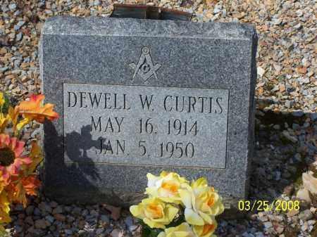 CURTIS, DEWELL W. - Garland County, Arkansas | DEWELL W. CURTIS - Arkansas Gravestone Photos