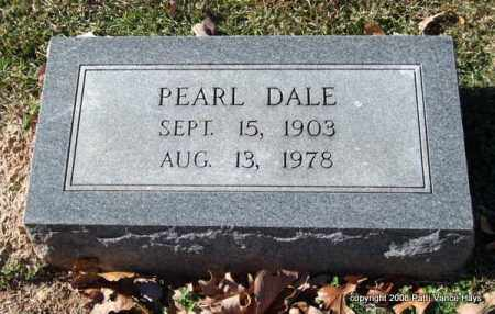 DALE, PEARL - Garland County, Arkansas | PEARL DALE - Arkansas Gravestone Photos