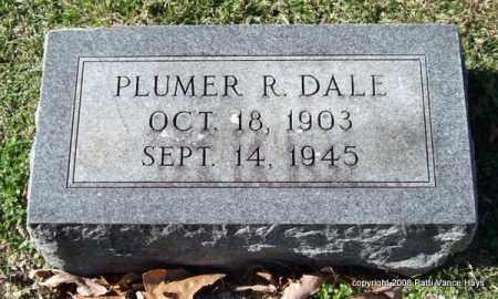 DALE, PLUMER R. - Garland County, Arkansas | PLUMER R. DALE - Arkansas Gravestone Photos