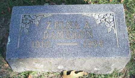 DAMERON, ZELNA A. - Garland County, Arkansas | ZELNA A. DAMERON - Arkansas Gravestone Photos