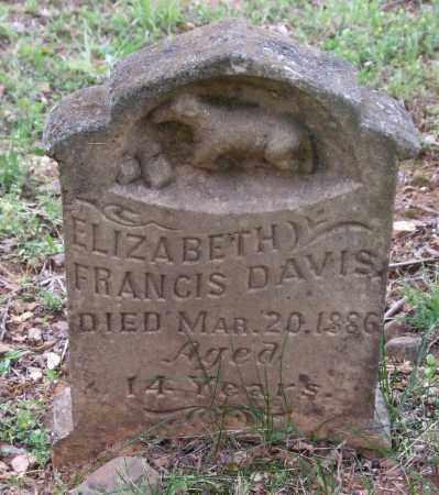 DAVIS, ELIZABETH FRANCIS - Garland County, Arkansas | ELIZABETH FRANCIS DAVIS - Arkansas Gravestone Photos