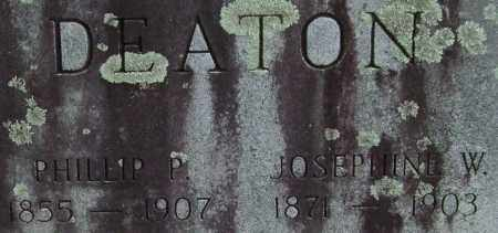 DEATON, JOSEPHINE (CLOSE UP) - Garland County, Arkansas | JOSEPHINE (CLOSE UP) DEATON - Arkansas Gravestone Photos