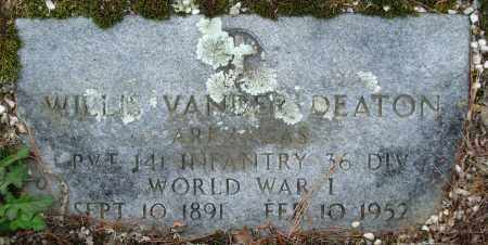 DEATON (VETERAN WWI), WILLIS VANDER - Garland County, Arkansas | WILLIS VANDER DEATON (VETERAN WWI) - Arkansas Gravestone Photos