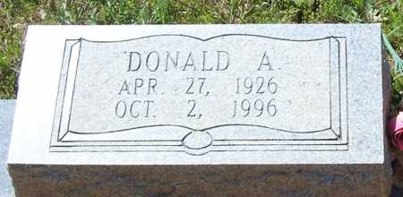 DEBUSK, DONALD A. (CLOSE UP) - Garland County, Arkansas | DONALD A. (CLOSE UP) DEBUSK - Arkansas Gravestone Photos