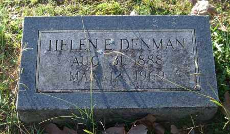 DENMAN, HELEN E. - Garland County, Arkansas | HELEN E. DENMAN - Arkansas Gravestone Photos
