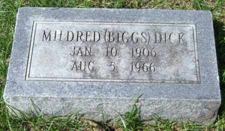 BIGGS DICK, MILDRED - Garland County, Arkansas | MILDRED BIGGS DICK - Arkansas Gravestone Photos