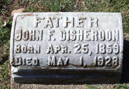 DISHEROON, JOHN F. - Garland County, Arkansas   JOHN F. DISHEROON - Arkansas Gravestone Photos