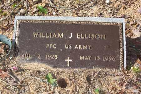 ELLISON (VETERAN), WILLIAM J - Garland County, Arkansas | WILLIAM J ELLISON (VETERAN) - Arkansas Gravestone Photos