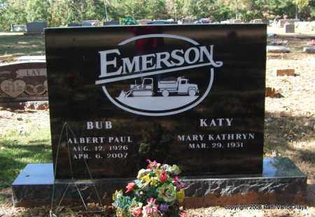 "EMERSON, ALBERT PAUL ""BUB"" - Garland County, Arkansas 