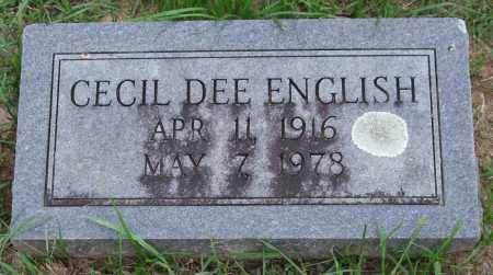 ENGLISH, CECIL DEE - Garland County, Arkansas | CECIL DEE ENGLISH - Arkansas Gravestone Photos