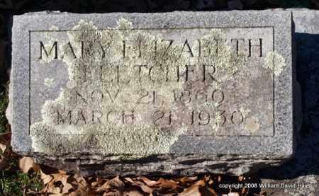 FLETCHER, MARY ELIZABETH - Garland County, Arkansas | MARY ELIZABETH FLETCHER - Arkansas Gravestone Photos