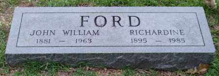 FORD, JOHN WILLIAM - Garland County, Arkansas | JOHN WILLIAM FORD - Arkansas Gravestone Photos