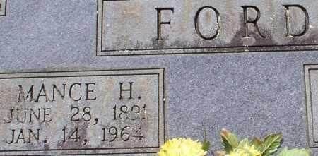 FORD, MANCE H. (CLOSE UP) - Garland County, Arkansas | MANCE H. (CLOSE UP) FORD - Arkansas Gravestone Photos