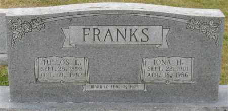 FRANKS, IONA H. - Garland County, Arkansas | IONA H. FRANKS - Arkansas Gravestone Photos