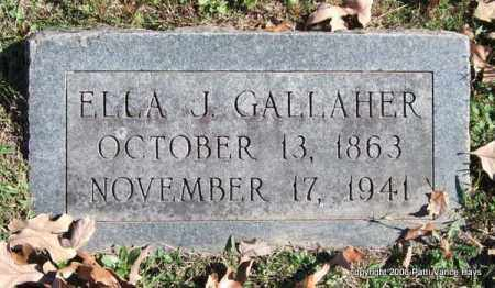 GALLAHER, ELLA J. - Garland County, Arkansas | ELLA J. GALLAHER - Arkansas Gravestone Photos