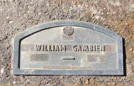 GAMBIEN, WILLIAM - Garland County, Arkansas | WILLIAM GAMBIEN - Arkansas Gravestone Photos