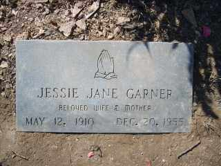 GARNER, JESSIE JANE - Garland County, Arkansas | JESSIE JANE GARNER - Arkansas Gravestone Photos