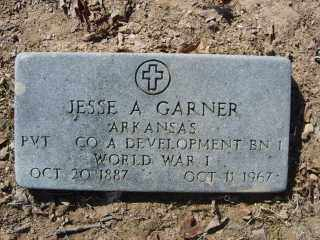 GARNER (VETERAN WWI), JESSE A. - Garland County, Arkansas | JESSE A. GARNER (VETERAN WWI) - Arkansas Gravestone Photos