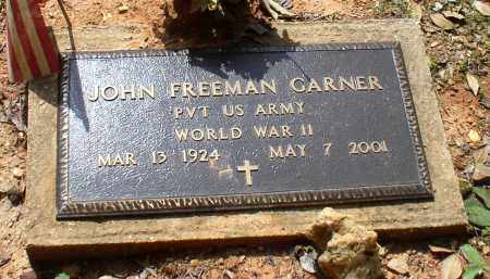 GARNER (VETERAN WWII), JOHN FREEMAN - Garland County, Arkansas | JOHN FREEMAN GARNER (VETERAN WWII) - Arkansas Gravestone Photos