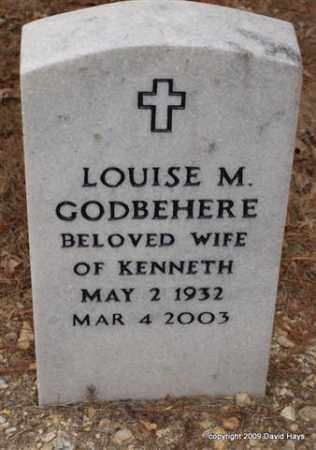 GODBEHERE, LOUISE M. - Garland County, Arkansas | LOUISE M. GODBEHERE - Arkansas Gravestone Photos