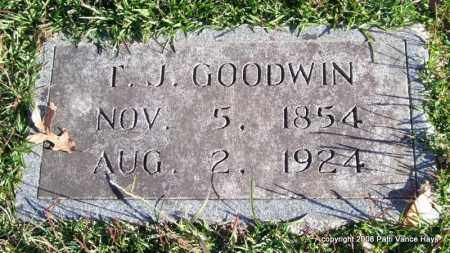GOODWIN, T. J. - Garland County, Arkansas | T. J. GOODWIN - Arkansas Gravestone Photos