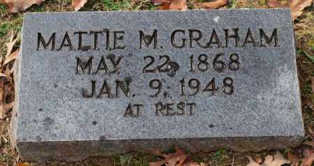 GRAHAM, MATTIE M. - Garland County, Arkansas | MATTIE M. GRAHAM - Arkansas Gravestone Photos