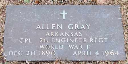 GRAY (VETERAN WWI), ALLEN - Garland County, Arkansas | ALLEN GRAY (VETERAN WWI) - Arkansas Gravestone Photos