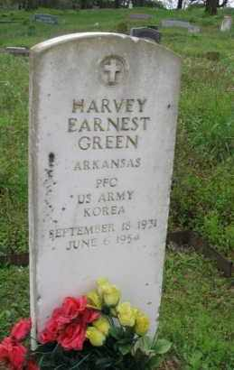 GREEN (VETERAN KOR), HARVEY EARNEST - Garland County, Arkansas | HARVEY EARNEST GREEN (VETERAN KOR) - Arkansas Gravestone Photos