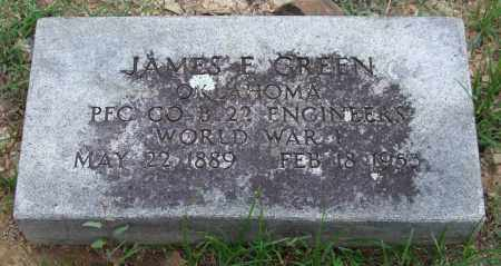 GREEN (VETERAN WWI), JAMES E. - Garland County, Arkansas | JAMES E. GREEN (VETERAN WWI) - Arkansas Gravestone Photos