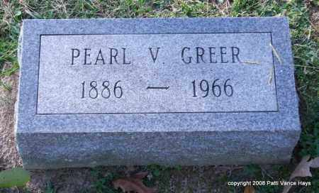 GREER, PEARL V. - Garland County, Arkansas | PEARL V. GREER - Arkansas Gravestone Photos