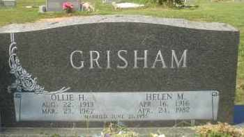 GRISHAM, OLLIE H. - Garland County, Arkansas | OLLIE H. GRISHAM - Arkansas Gravestone Photos