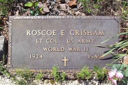 GRISHAM (VETERAN WWII), ROSCOE E. - Garland County, Arkansas | ROSCOE E. GRISHAM (VETERAN WWII) - Arkansas Gravestone Photos