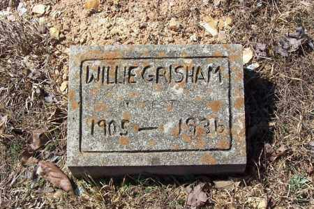 GRISHAM, WILLIE (FOOTSTONE) - Garland County, Arkansas | WILLIE (FOOTSTONE) GRISHAM - Arkansas Gravestone Photos