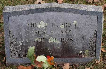 GROTH, FANNIE H. - Garland County, Arkansas | FANNIE H. GROTH - Arkansas Gravestone Photos