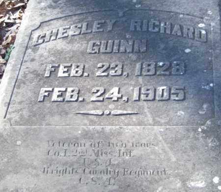 GUINN (VETERAN 2 WARS), CHESLEY RICHARD - Garland County, Arkansas | CHESLEY RICHARD GUINN (VETERAN 2 WARS) - Arkansas Gravestone Photos