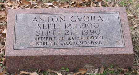 GVORA (VETERAN WWII), ANTON - Garland County, Arkansas | ANTON GVORA (VETERAN WWII) - Arkansas Gravestone Photos