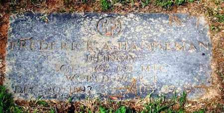 HANNEMAN (VETERAN WWI), FREDERICK A - Garland County, Arkansas | FREDERICK A HANNEMAN (VETERAN WWI) - Arkansas Gravestone Photos