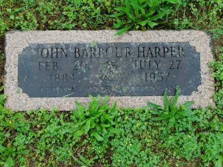 HARPER, JOHN BARBOUR - Garland County, Arkansas | JOHN BARBOUR HARPER - Arkansas Gravestone Photos