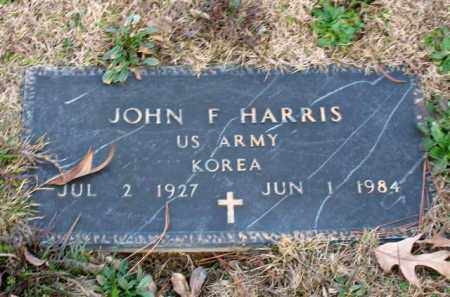 HARRIS (VETERAN KOR), JOHN F - Garland County, Arkansas | JOHN F HARRIS (VETERAN KOR) - Arkansas Gravestone Photos