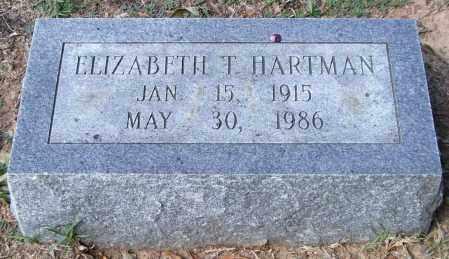 HARTMAN, ELIZABETH T. - Garland County, Arkansas | ELIZABETH T. HARTMAN - Arkansas Gravestone Photos