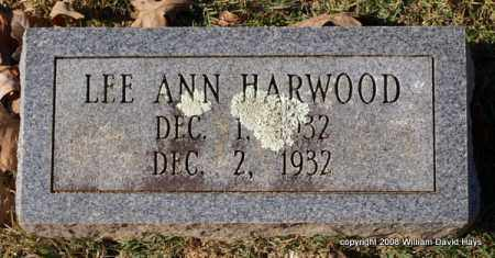 HARWOOD, LEE ANN - Garland County, Arkansas | LEE ANN HARWOOD - Arkansas Gravestone Photos