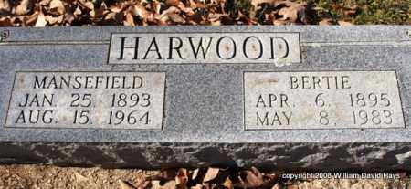 HARWOOD, BERTIE - Garland County, Arkansas | BERTIE HARWOOD - Arkansas Gravestone Photos
