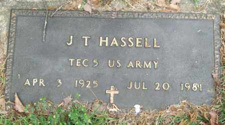 HASSELL (VETERAN), J. T. - Garland County, Arkansas | J. T. HASSELL (VETERAN) - Arkansas Gravestone Photos