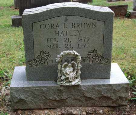 HATLEY, CORA I. BROWN - Garland County, Arkansas | CORA I. BROWN HATLEY - Arkansas Gravestone Photos