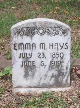 HAYS, EMMA M. - Garland County, Arkansas | EMMA M. HAYS - Arkansas Gravestone Photos