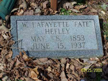 "HEFLEY, W. LAFAYETTE ""FATE"" - Garland County, Arkansas 